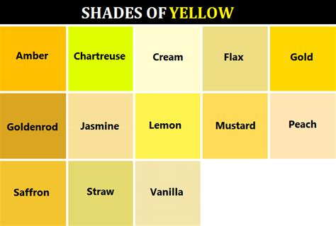 shades of yellow names naked news girl goddessofsax here s a handy dandy color