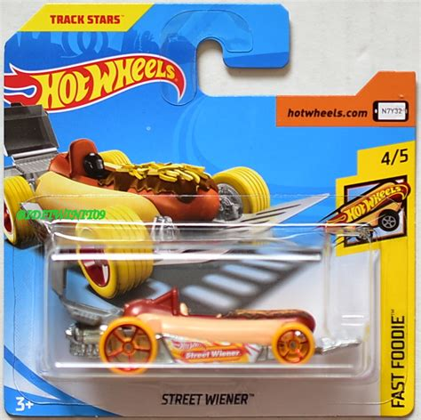 Wheels Hotwheels Wiener wheels 2018 fast foodie wiener card