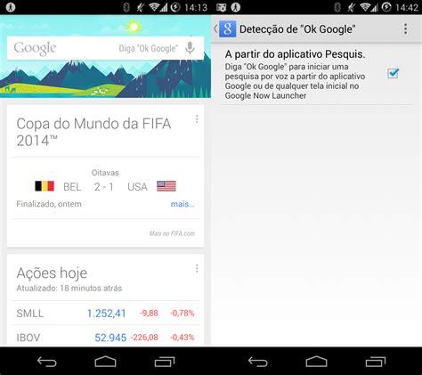 ok google quot ok google quot agora funciona no google now em portugu 234 s