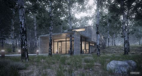 forest render making of house in the forest juan carlos torres