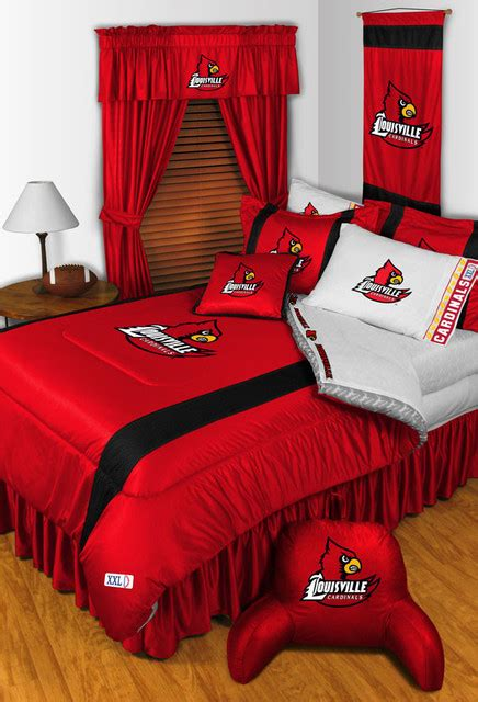 louisville bedding ncaa louisville cardinals bedding and room decorations