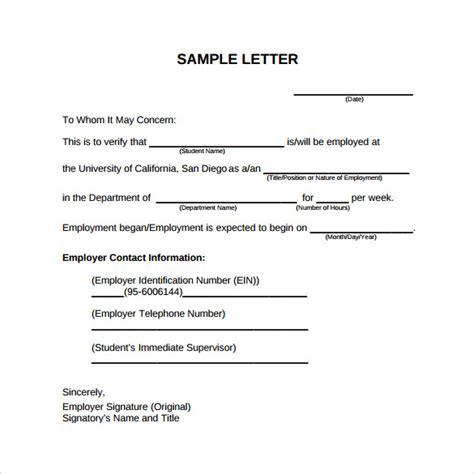 Employment Letter In Pdf sle employment verification letter request b employer