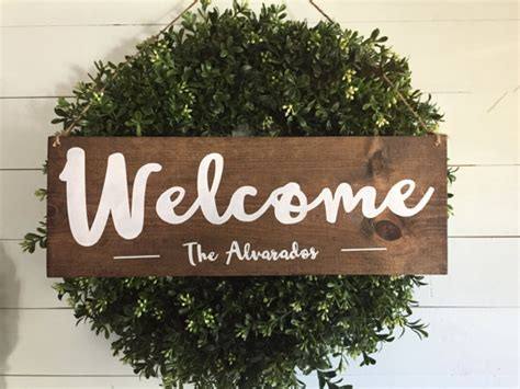 Personalized Welcome Signs For Front Door Welcome Sign Welcome Door Sign Personalized Sign Family