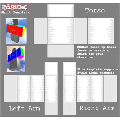 shaded shirt template roblox