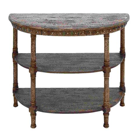 round sofa table shop woodland imports half round console and sofa table at