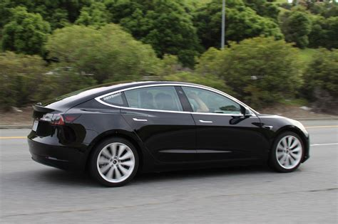 tesla model 3 spotted during testing for the first time