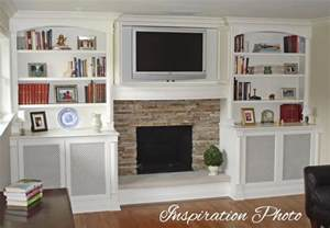 built in bookshelves around tv put a my s family room