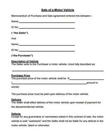 vehicle sale agreement template 7 vehicle sales contract free sle exle format
