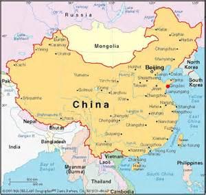 map china capital of china map