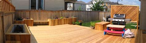 Backyard Bbq Ottawa Cedar Backyard Deck With Benches And Flower Boxes