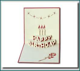 birthday cake in 3d pop up greeting card buy pop up