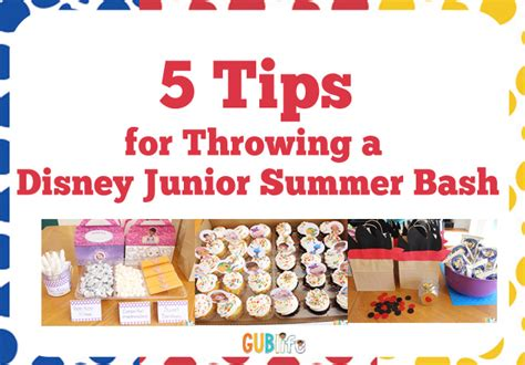 8 Tips For Throwing The by 5 Tips For Throwing A Disney Junior Summer Bash For