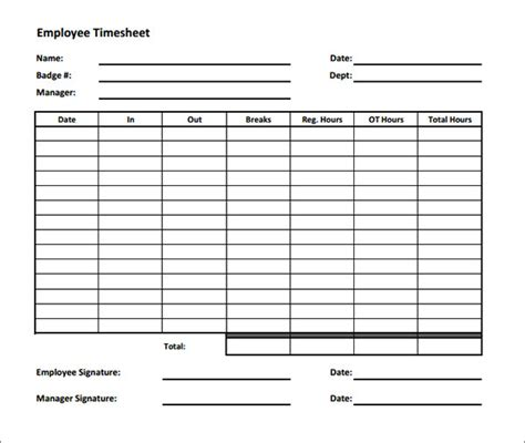 printable timesheet calculator time sheet calculator templates 15 download free