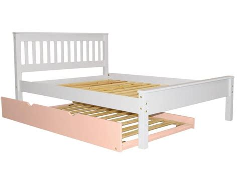 pink trundle bed full mission bed white pink trundle 376 bunk bed king