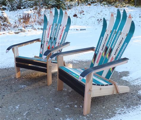 make adirondack chair from skis how to build an adirondack chair with skis