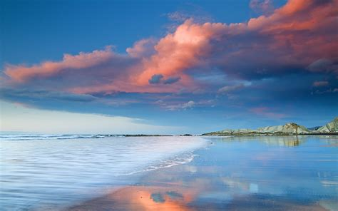 nature landscapes beaches reflection water ocean sea