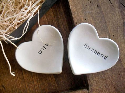 ring dish, wedding ring holder, Husband and Wife