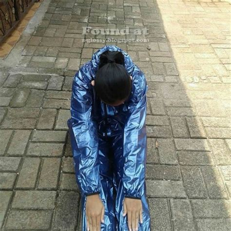 Baju Sauna Suit Shiny Sportswear And Rainwear Transparent