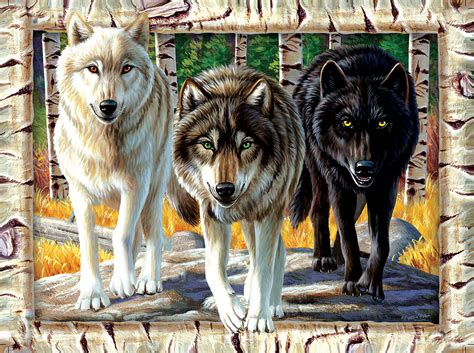 wolf colors wolf pack colors jigsaw puzzle puzzlewarehouse