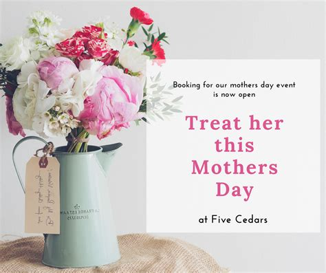mothers day 2018 news offers five cedars