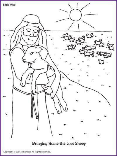 coloring page jesus with sheep coloring bringing home the lost sheep kids korner