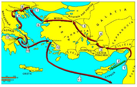 cuarto viaje misionero de pablo mapa viajes de pablo