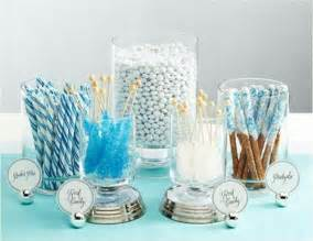 White And Blue Favors by Beautiful Bridal Wedding Buffets