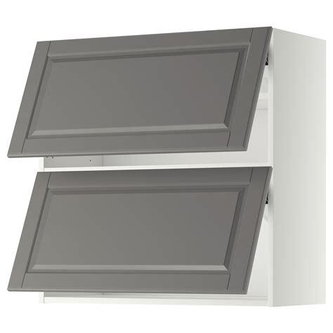 Ikea Horizontal Kitchen Cabinets Metod Wall Cabinet Horizontal W 2 Doors White Bodbyn Grey 80x80 Cm Ikea