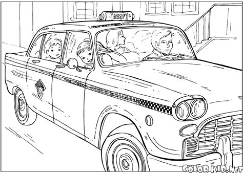 coloring york taxi