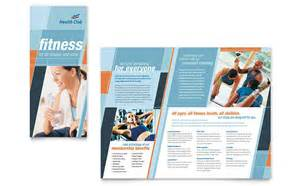 health amp fitness gym brochure template design