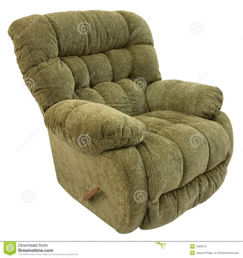 big and plush rocker recliner stock photography image