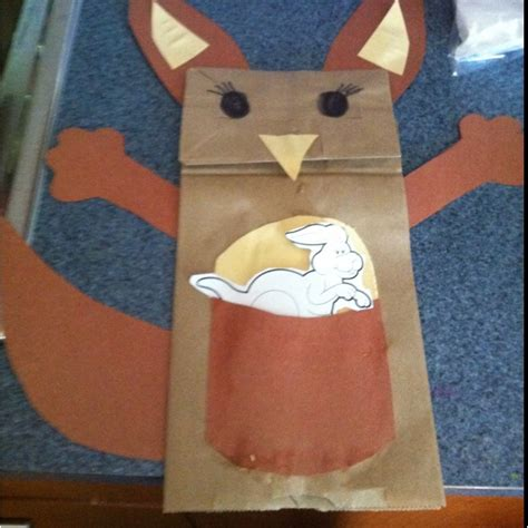 Kangaroo Paper Craft - kangaroo paper plate craft www imgkid the image