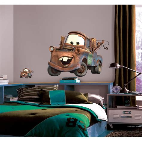 disney wall stickers for bedrooms new mater wall decals disney cars tow truck bedroom stickers decor ebay