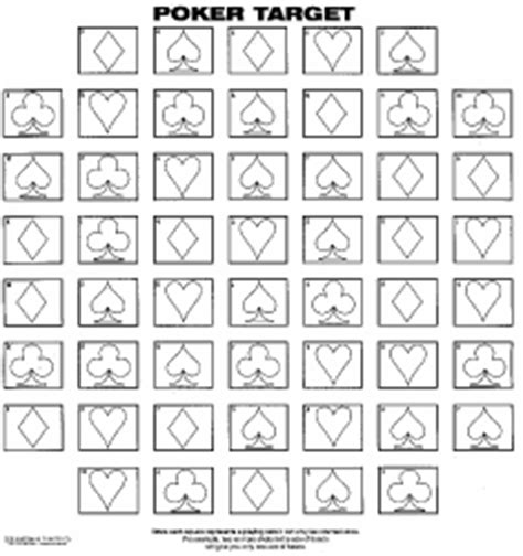 printable playing card targets official competition and fun targets