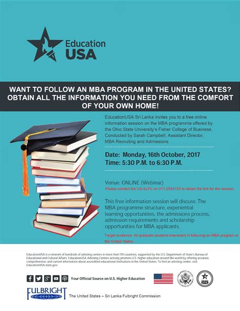 Ohio Mba Requirements by Free Information Session About Mba Programs In The