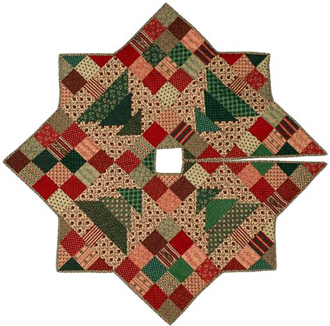 free pattern quilted christmas tree skirt christmas patch tree skirt quilt pattern cmq 109