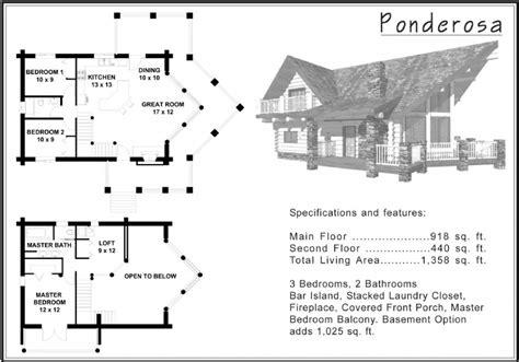 1 500 Sq Ft And Under 171 Alpine Blue Log Homes Ponderosa House Plans