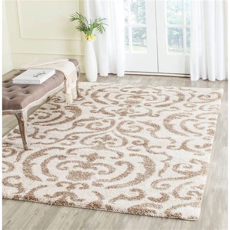 Safavieh Shag Rugs by Safavieh Florida Shag Beige 4 Ft X 6 Ft Area Rug