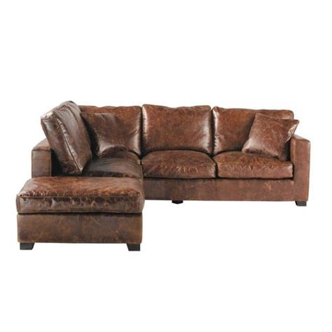 5 Seater Leather Corner Sofa 5 Seater Leather Corner Sofa In Brown Stanford Maisons
