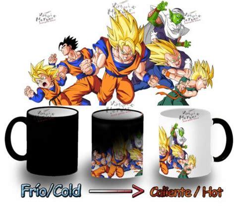 Detalles de TAZA MAGICA DRAGON BALL personajes luchando goku tazza mug tasse magic mágica   Goku