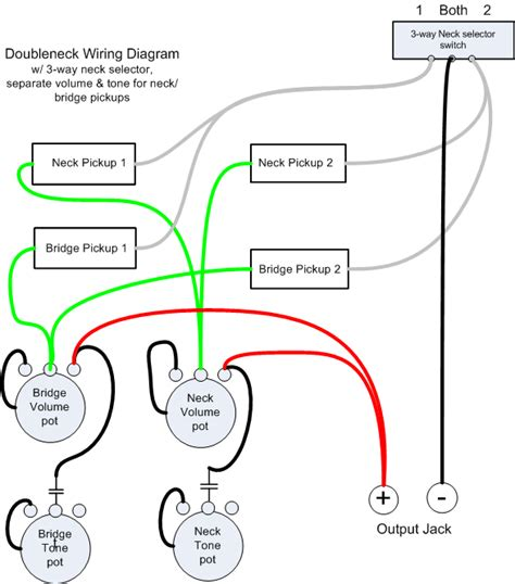 neck guitar wiring schematic and diagram