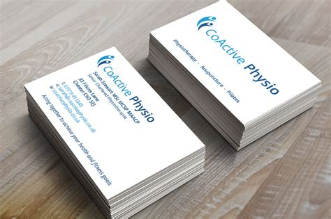 physio business card template coactive physio kavanagh