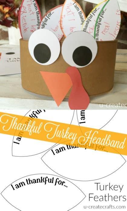 printable turkey headband template thankful turkey headband u create