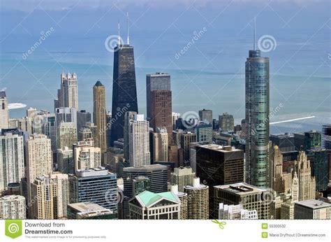 fotos chicago invierno ciudad de chicago en invierno foto de archivo imagen