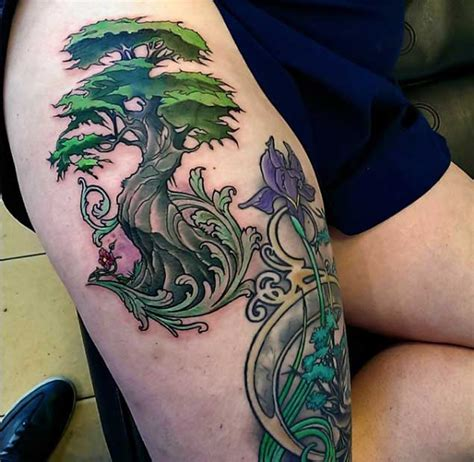 15 pine tree 40 achingly 15 tattoos for inspiring deer skull