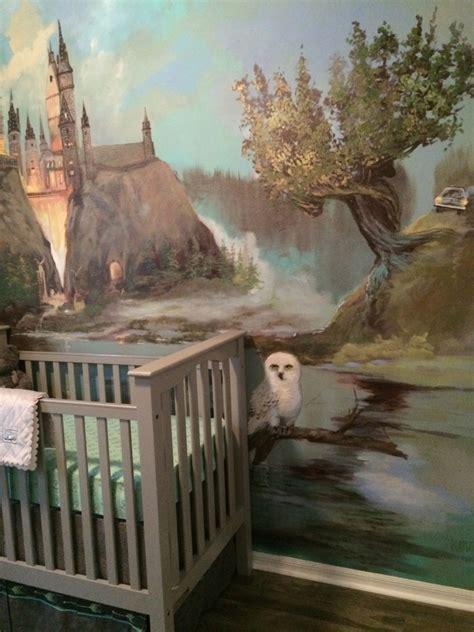 hogwarts wall mural a harry potter inspired nursery project nursery