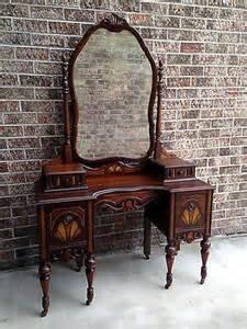 Antique Bedroom Vanity With Mirror Vintage Bedroom Vanity Makeup Table Desk W Gorgeous Mirror