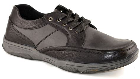 comfort leisure shoes mens smart comfort leisure walking hiking trail lace up