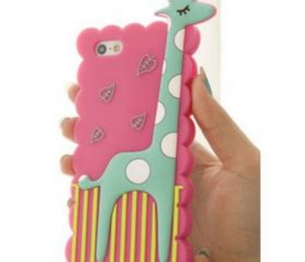 s5q animal giraffe silicone soft cover back skin protector for iphone 5 5s aaackv on luulla