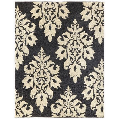 Home Decorators Collection Meadow Damask Gray 7 Ft 10 In Damask Rug